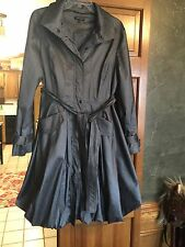 SAMUEL DONG WOMEN'S GREY BUBBLE BELTED ZIP SNAP TRENCH COAT  SIZE M  BEAUTIFUL