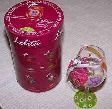 """Lolita Love My Letter """"R"""" Mini Wine Glass Ornament MULTI-COLOR ~ NEW IN BOX"""