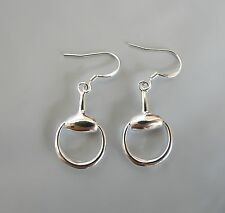 Sterling Silver Snaffle Bit Horse Riding Earrings * NEW *