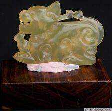 China 20. Jh. A Chinese Jade Carving Of A Mythical Animal - Giada Cinese Chinois