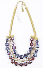 KENNETH COLE New York 'Modern Violet' Crystal Frontal Gold-Tone Necklace $98