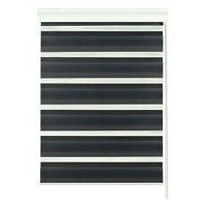 Luxury Modern Day And Night Roller Blind - Black - 60 x 160cm