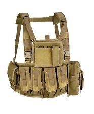 Gilet tattico softair/militare molle recon chest rig Defcon5 Tan.
