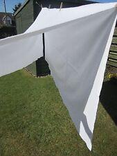 Vintage Blanco Algodón Lino Hoja Plana 68 X 72 pulgadas Tamaño de Cama Individual.