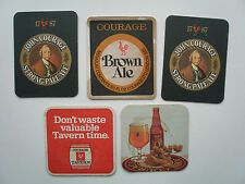 FIVE BEERMATS FROM THE 1970S- 80S JOHN COURAGE PALE ALE & BROWN ALE