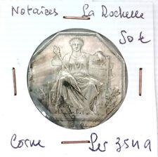 JETON NOTAIRES - LA ROCHELLE - POINÇON CORNE - LEROUGE 354 A