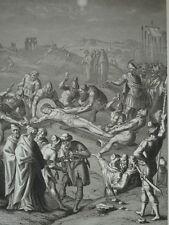 Jésus Christ est attaché à la croix Héliogravure de 1863