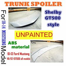 CARKING UNPAINTED 2010-2014 Ford Mustang Shelby GT500 Style Trunk Spoiler ABS