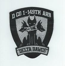 """D CO 1-149th ARB """"DELTA DAWGS"""" patch"""