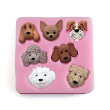 3D Dogs Shaped Mold Cake Silicone Fondant Decorating Sugarcraft Chocolate Mould