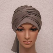 Women's stretchy turban snood, full turban, chemo head wear, full head covering