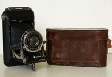 KODAK REGENT Folding Camera CARL ZEISS Compur TESSAR f4.5 Lens LEATHER CASE 1930