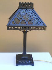 1920s ARTS & CRAFTS SLAG GLASS LAMP