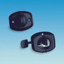 CARAVAN / MOTORHOME DOOR RETAINER LOCKS - QUICK RELEASE LEVER  - BLACK