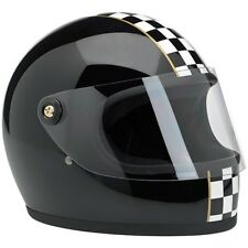 Casco Integrale Biltwell Gringo S Le Checker Nero Full-Face Helmet Biker Tg. S