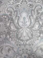 New ENVOGUE MIKA 300TC Cotton Aqua Blue White Gray Floral Duvet set - King