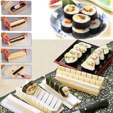 11Pcs DIY Sushi Roller Cutter Machine Kitchen Magic Maker Perfect Roll Tool Kit