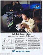 PUBLICITE ADVERTISING 105 1993 SENNHEISER écouteur tv sans fil SET 90     311015