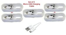 [Set of 5] Micro USB Charging Cable for Android Mobile Phones & Tablets