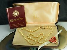 Vintage Majorca for Hobe Pearl 8mm Bead Necklace Box Papers 21.5""