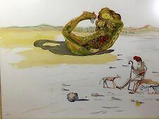 SALVADOR DALI LITHOGRAPH DESERT WATCH (DESERT JEWEL) FROM TIME HAND-SIGNED ART