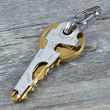 8 in 1 EDC Stainless Steel Multi-function Tools Keychain Outdoor Survival Gear