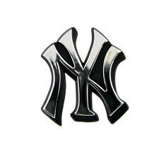 New York Yankees Silver Auto Emblem [NEW] Car Decal Sticker Static Cling MLB CDG