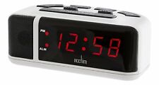 Acctim Adelphi Red LED Mains Electric Bold Bedside Alarm Clock 15082