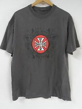 GUC Men's WEST COAST CHOPPERS Gray T-Shirt LONG BEACH CA Large Motorcycle Snake