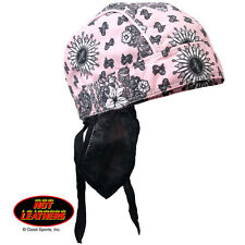 Hot Leathers Premium Head Wrap - Pink Paisley, HWH1066, Ladies Head Wear