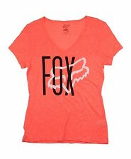 Fox Racing Women's Top Weave Vneck Orange Flame Size S