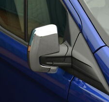 CHROME DOOR WING MIRROR TRIM SET COVERS SURROUNDS FOR FORD TRANSIT CUSTOM