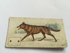 late victorian - wolf ( 2 of spades)  wills cigarette card