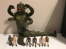 Vintage Mattel Clash of Titans Lot 1981 KRAKEN + 6 figures Read Description