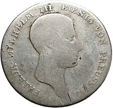 1812  Prussia Frederick William Wilhelm III Napoleon Time Silver Coin i49121