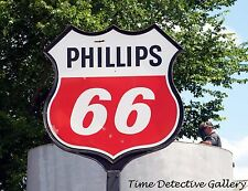 Vintage Phillips 66 Gas Station Sign in East Texas - Giclee Photo Print