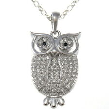 """Sterling Silver Owl Pendant with 18"""" Chain & Box"""