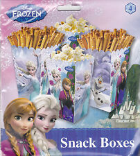 Party Snack Boxes DISNEY FROZEN Elsa Anna Treats Birthday Supplies 4 pack S2