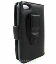 Newest wallet Leather Case Pouch for Apple iPhone 5.Black + Holster Belt Clip