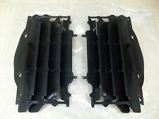 2 NEW OEM BLACK RADIATOR GUARDS COVERS SHIELDS HONDA CRF250R CRF 250R 2004-2009