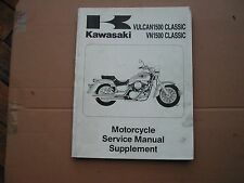 KAWASAKI vn1500 vulcan classic  SUPPLEMENT SERVICE MANUAL 99924-1191-51