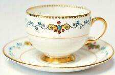 Royal Albert Crown China Vintage Figura di tazza e piattini Art Deco Tea Party alta T