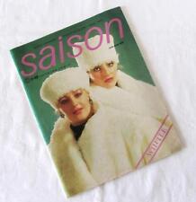 VINTAGE Mode, Zeitschrift SAISON mit Schnittmuster - WINTER 1988 - unbenutzt