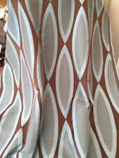 """Designer Heavy Quality Curtain Fabric Duck Egg Chocolate 60"""" Wide 5 Metre Roll"""