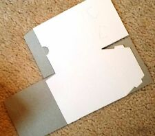 White Cardboard Gift Box -White outside with gray inside -4 x 4 x 4 SET OF THREE