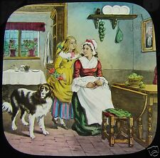 VICTORIAN TALE Glass Magic Lantern Slide THE MAY QUEEN BY TENNYSON NO1 C1890