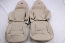 Custom Made 1997-2004 C5 Corvette Real Leather  Seat Covers for Sport Seats Tan