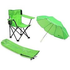 Beach Baby Kids Camp Chair & Carry Umbrella & matching tote bag-Lime Green NEW