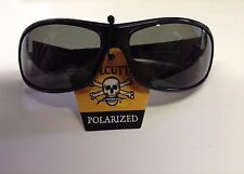 New Authentic Calcutta Venice Sunglasses - Shiny Black Frame/Gray Lens