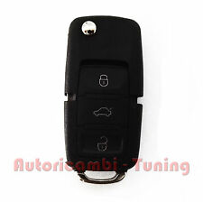 COVER CASE KEY 3 BUTTONS REMOTE CONTROL VW BORA PASSAT GOLF POLO + KEYCHAIN